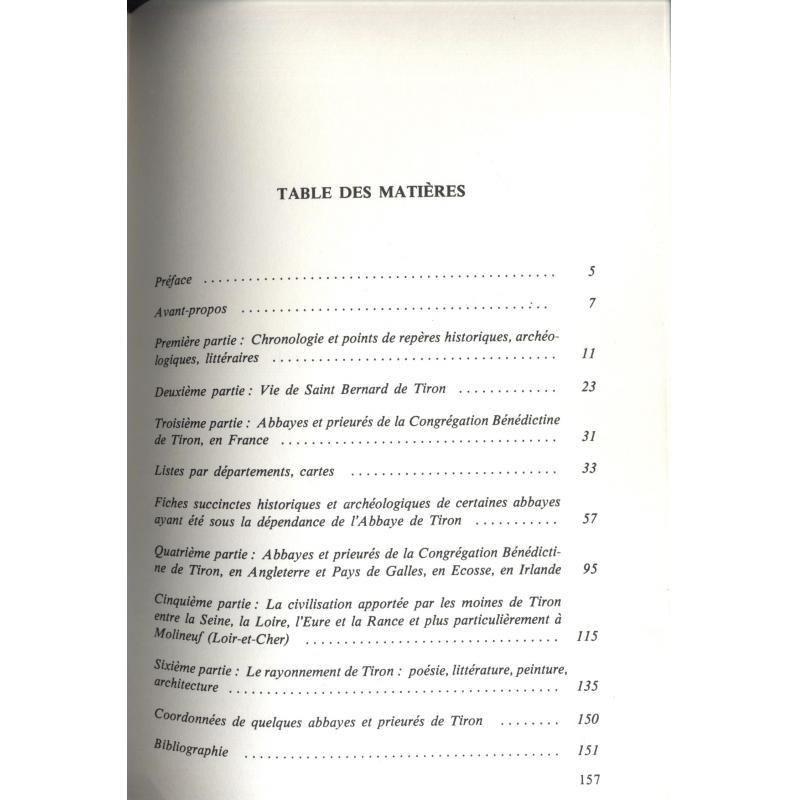 Tiron et Molineuf abbayes et prieurés du Perche au Val de Loire et à bien d'autr
