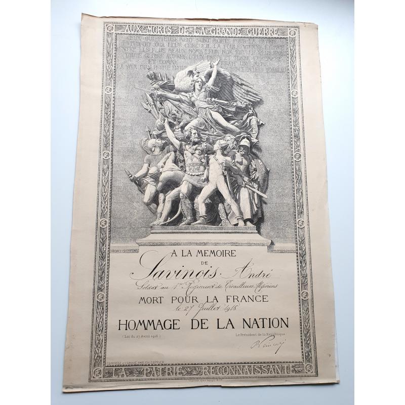 Toute la vie d'André Savinois (1895-1918) à Suevres (Loiret) en 2 documents
