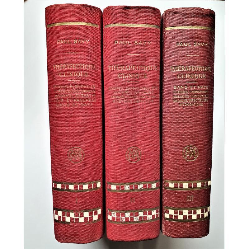 Traité de thérapeutique clinique 3 tomes 3e et 4e edition