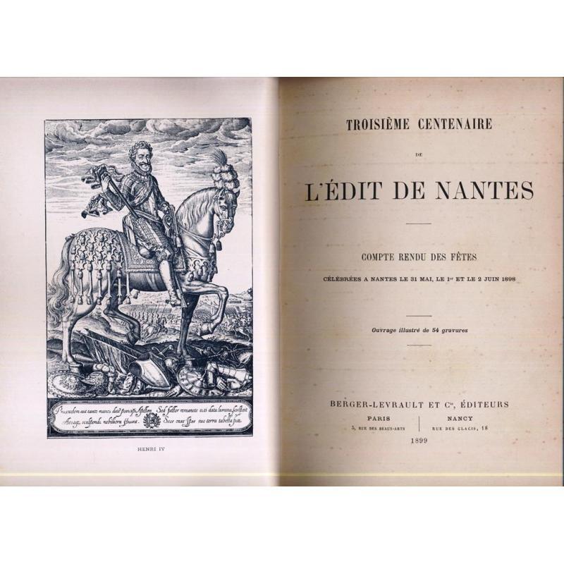 Troisième centenaire de l'edit de Nantes