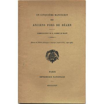 Un cinquieme manuscrit des fors de Béarn