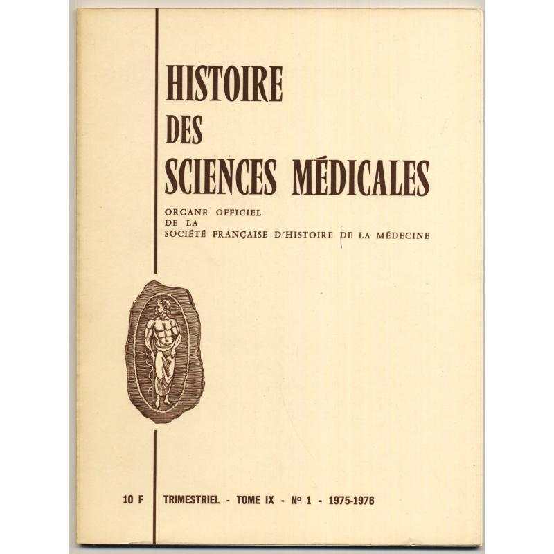VENDU 61 n° Revue trimestrielle de la societe française d'histoire  médecine