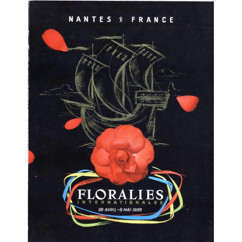 VENDU Floralies internationales de Nantes 28 avril - 8 mai 1956 numéroté