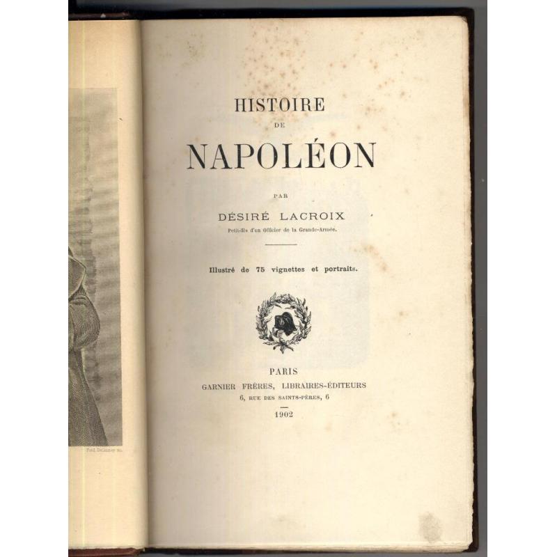 VENDU Histoire de Napoléon