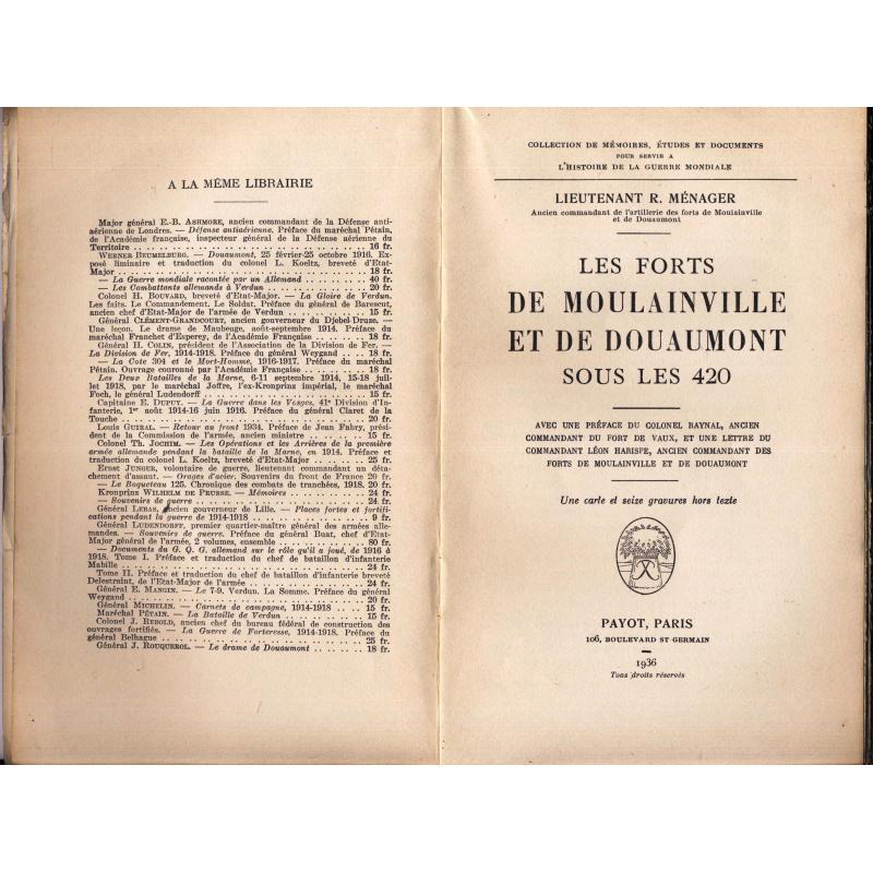 VENDU Les forts de Moulainville et de Douaumont sous les 420