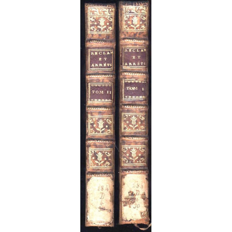 VENDUS Recueil des réclamations, remontrances, (...) Edit de Décembre 1770 2 T