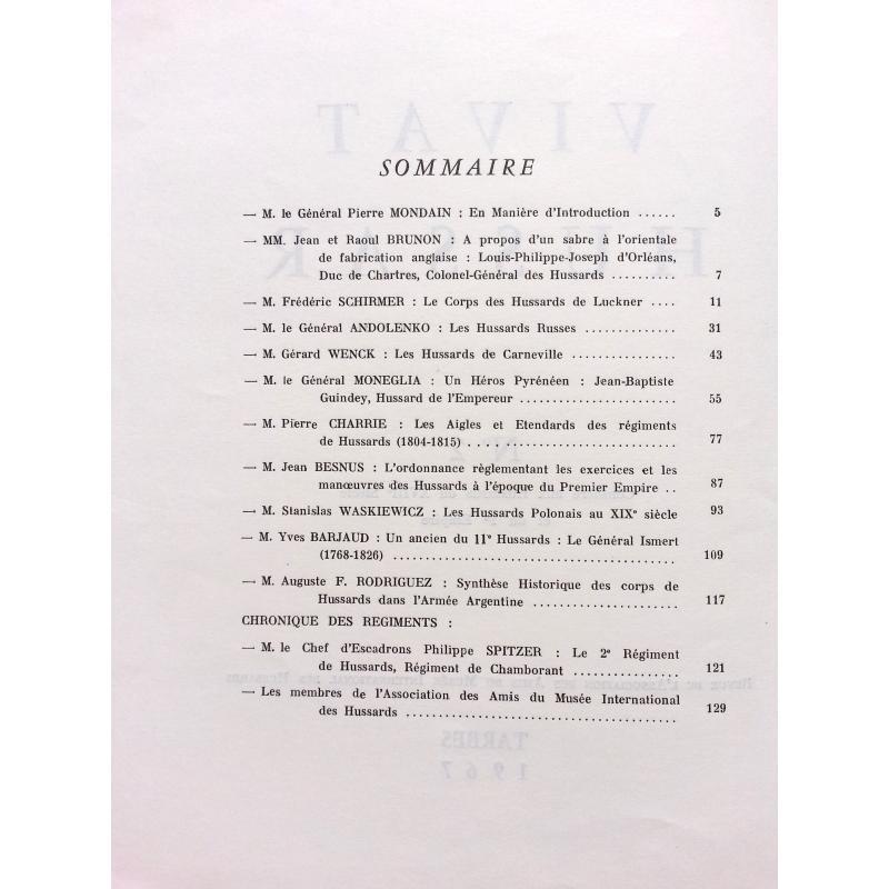 Vivat Hussar n°2 consacré aux hussards du XVIIIè siècle et du Ier Empire