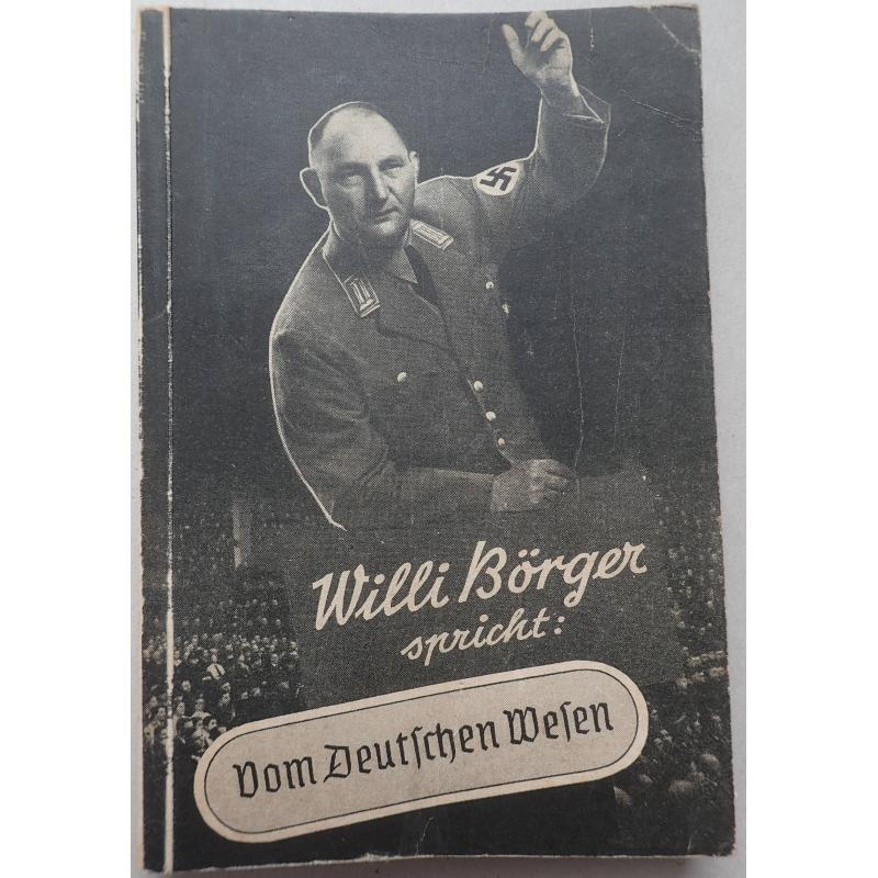 Willi Börger spricht Vom Deutschen wesen