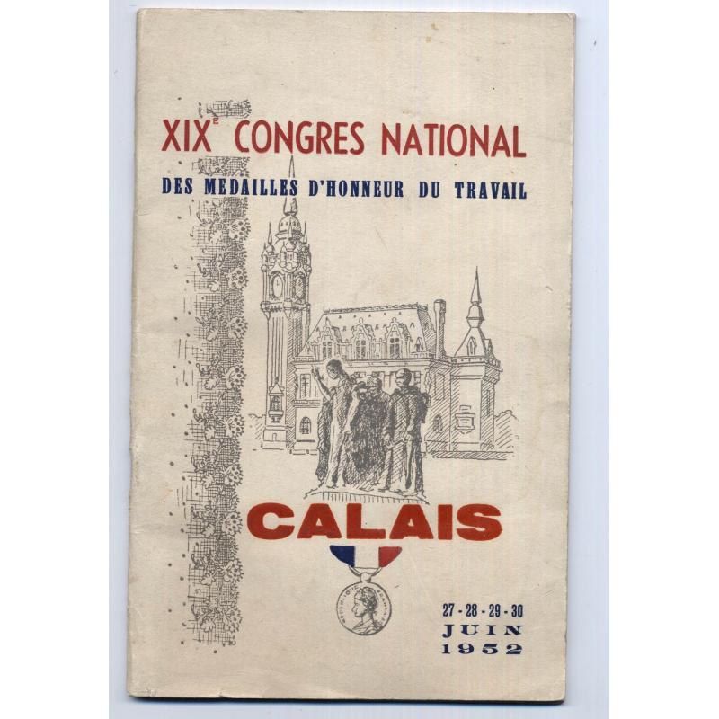 xixe congres national des medailles d'honneur du travail calais 1952